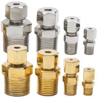 BSPT Adjustable Compression Fittings