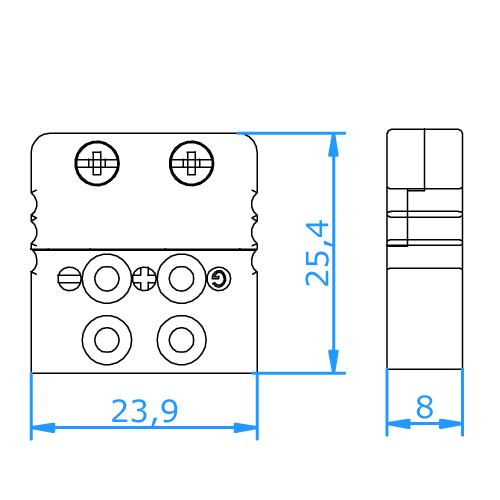 Fmjt U Rtd Miniature 3 Pin Thermocouple Socket