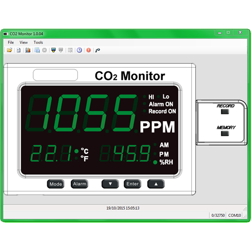Event Data Logger With Screen : Htm d large led co temperature humidity monitor with
